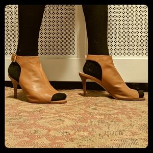 Tan Leather Vince Camuto Heel Shoes